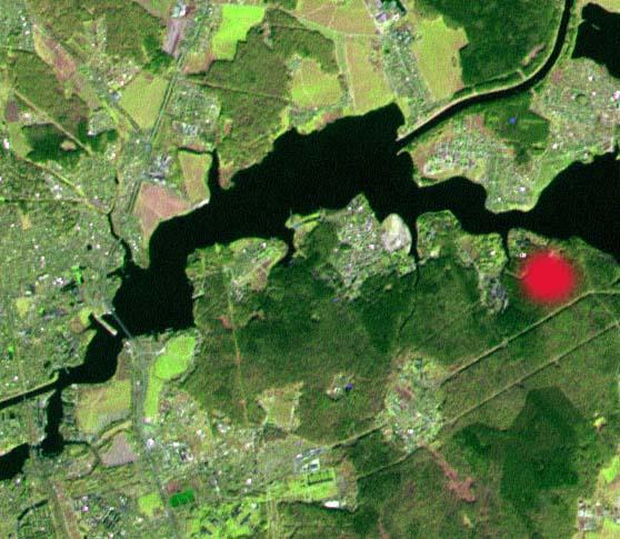 Вид из космоса: поселок